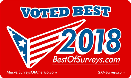 Voted best 2018 from bestofsurveys.com