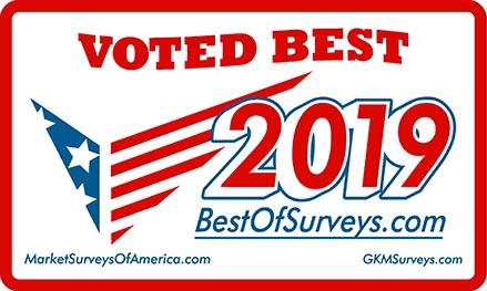 Voted best 2019 from bestofsurveys.com